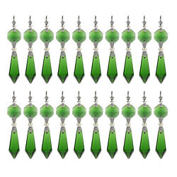 30 Green Chandelier Glass Crystals Lamp Prisms Parts Hanging Pendants Decor 38MM $11.69