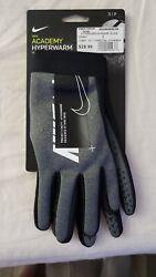 Nike Academy Hyperwarm Gloves Size Small Petite New With Tags $30.00