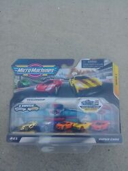 *NEW IN HAND* Micro Machines 2020 GOLD ULTRA RARE CHASE #01 Super Cars 5 pack $39.95