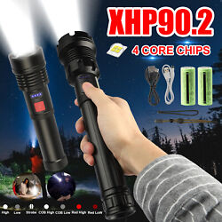 XHP90.2 LED Flashlight Zoom Torch Light USB Rechargeable 7Mode Super Bright Lamp $16.48