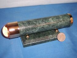 Victorian Executive Desk Style Marble and Brass Kaleidoscope with Desk Stand $19.85