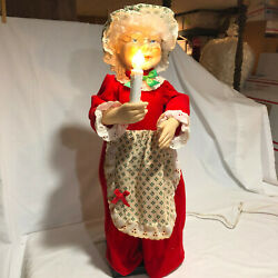 Telco Montion ette#x27;s Mrs.Claus Animated Holiday Decoration 24quot; Tall ORIGINAL BOX $40.00