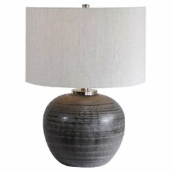 Uttermost Mikkel Contemporary Table Lamp in Charcoal $290.40