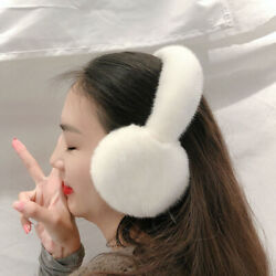 Women#x27;s Real Mink Fur Earmuffs Winter Warm Ear Protection Muffs Earflap Gift $55.99