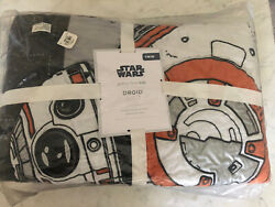 Pottery Barn Kids Star Wars Droid Quilt Twin New In Package Sold Out @ PB $159.99