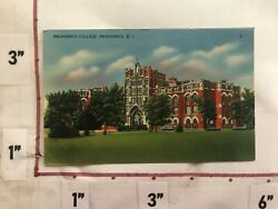 1940 50s Providence College Rhode Island Unposted Postcard Linen Colourpicture $10.00