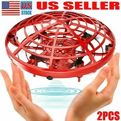 2PCS Mini Drone UFO Aircraft Flying Toys Hand Control For Kids Christmas Gifts $28.33
