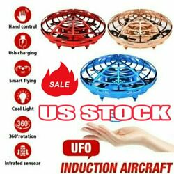 Hand Operated Mini Drones for 6 7 8 9 10 Years Old Kids Hands Free Flying UFO QF $14.03