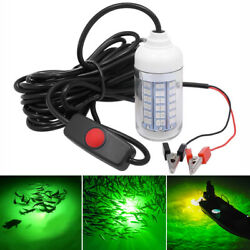 12V Green LED Underwater Submersible Fishing Light Night Crappie Shad Squid Lamp $11.88