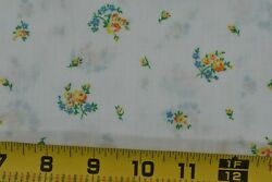 By 1 2 Yd 36.5quot; Vintage 1940#x27;s 60#x27;s Yellow amp; Blue Floral Thinner CottonP3689 $7.50