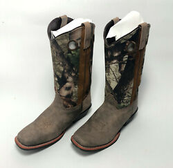 Smoky Mountain Women#x27;s Tupelo Square Toe Western Boots Leather8 US Brown Camo $46.99