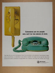 1965 Bell System Extension Telephones wall princess phones vintage print Ad $9.99