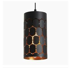 Mini Pendant Light with Cylindrical Metal Cage adjustable Set Of 2 NEW In Boxes $32.99