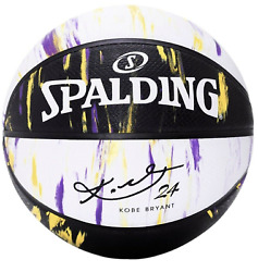 NEW SPALDING Basketball KOBE BRYANT Marbled Series LIMITED EDITION LAKERS COLORS $57.99