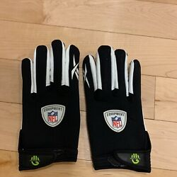 NFL Equipment Catch Wide Receiver Gloves Reebok Sticky Grip FAST SAME DAY SHIP $30.00