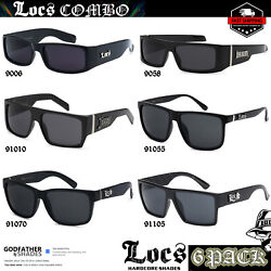 6 Pack quot;TOP SELLERSquot; LOCS Sunglasses BLACK Designer Gangster Cholo Maddoggers