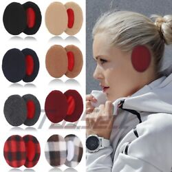 4 Pairs Ear Muffs Bandless Ear Warmers Fleece Thick Winter Ear Covers Unisex $15.19