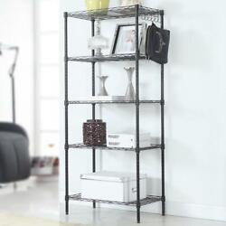 5 Layers Wire Shelves Unit Adjustable Metal Shelf Rack Kitchen Storage Organizer $43.99