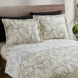 Egyptian Comfort 1800 Count 6 Piece Bed Sheet Set Deep Pocket Printed Bed Sheets $26.99