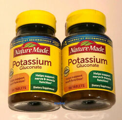 Nature Made Potassium Gluconate 550 mg 100 Tablets Pack of 2 $11.25