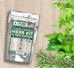 7000 Heirloom Herb Seeds 12 Variety Kit with FREE SHIPPING $14.99