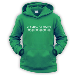 Game of Drones Kids Hoodie x9 Colours Gift Present Funny TV Quadcopter Hobby $31.62