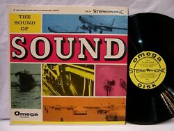 The Sound of Sounds Jets Boats Trains Cars amp; Nature Omega Records NM $19.99