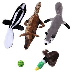 5 Plush No Stuffing Dog Toys With Squeakers Ideal Puppy Toys for Teething Dogs $19.95