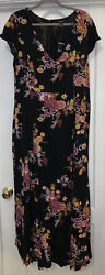 Forever 21 Plus Maxi Dress W Shorts Under Black Floral Size 2X Plus NEW NWT $18.50