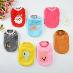 Pet Dogs Clothing Winter Clothes Fleece Coat Vest tshirt For Small Dog Puppy Cat $3.35