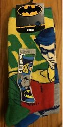 Batman Robin Reversible Crew Socks Fun Socks Mens One Size $11.99