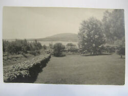 PENOBSCOT BAY amp; CAMDEN MTS FROM CAMDEN RD REAL PHOTO POSTCARD ME MAINE 1910 RPPC $1.49