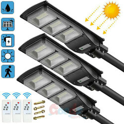 990000LM 250W Commercial Solar Street Light LED IP67 Dusk to Dawn Road LampPole