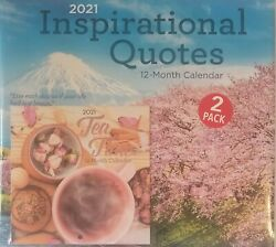 """2021 Inspirational Quotes Wall Calendar 2 Pack Large = 11""""x12"""" amp; Small =6quot;x6quot; $7.95"""