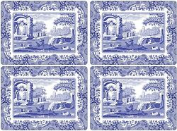 Pimpernel Spode Blue Italian Cork Backed Placemats Set of 4 15.7 X 11.7quot; $40.00
