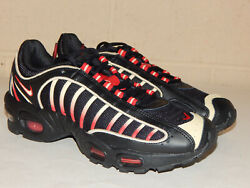 Nike Max Air Tailwind IV Men#x27;s Shoes CT1267 001 Size 8 or 9 Black Team Gold Red
