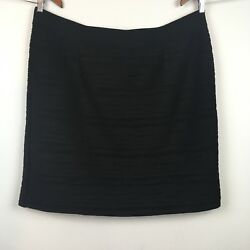 Alfani Woman Pencil Skirt Plus Size 24w Black Ruched Stretch Lined Classic Style $15.00