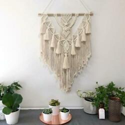 Wall Hanging Tapestry Macrame Woven Bohemia Tassel Boho Bedroom Home Decoration $41.33