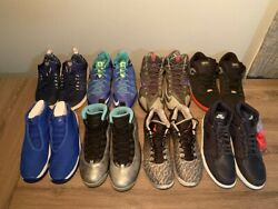 Eight Nike and Air Jordan Sneakers All with Box All NDS or DS Sizes 10.5 11.5