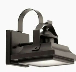 Kichler Linford 7.41 in H Olde Bronze LED Outdoor Wall Light