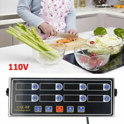Digital Commercial Countdown 8 Channel Timer Kitchen Calculagraph Loud Alarm USA