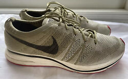 US 12 Mens Nike Flyknit Trainer Neutral Olive Velvet Brown Shoe AH8396 201 EUC $39.95