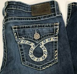 Big Star Womens LIV Bootcut Dark Wash Stretch Denim Jeans Size 32L 32x32 $29.69