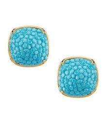 KATE SPADE Pave Small Square Stud Earrings In Blue WBRUH045 $24.99