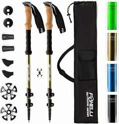 TrekkingHiking PolesWalking amp; Running Sticks with Natural Cork Grips $51.19