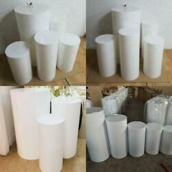 Round Party Decoration Floor White Cake Table Pedestal Stand Cylinder Plinth DIY $521.86