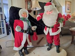 45quot; Vintage 60s MECHANICAL Mr and Mrs Santa Christmas Harold Gale Store Display $2000.00