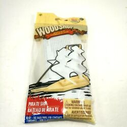 Pirate Ship Wood Shop Wooden Model Build Own Easy assembly Arts amp; Craft $8.99
