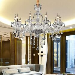 Elegant K9 Crystal Chandelier 10 Arms Modern E12 Ceiling Light Pendant Lamp $102.49