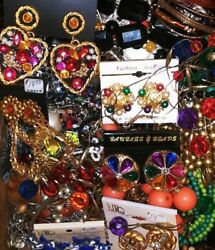 🎀Vintage Modern Huge JEWELRY LOT: Rhinestone Mixed Estate Free Ship 2lbs 🎀 $39.99